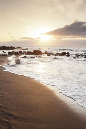 Playa Des Ingles, Beach, La Playa, Valle Gran Rey, La Gomera, Canary Islands, Spain, Atlantic-Markus Lange-Framed Photographic Print