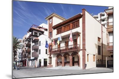 Town Hall at Plaza De Las Americas Square, San Sebastian, La Gomera, Canary Islands, Spain, Europe-Markus Lange-Mounted Photographic Print