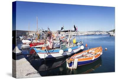 Port of Marciana Marina with Fishing Boats-Markus Lange-Stretched Canvas Print