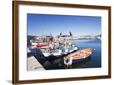Port of Marciana Marina with Fishing Boats-Markus Lange-Framed Photographic Print