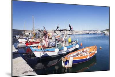 Port of Marciana Marina with Fishing Boats-Markus Lange-Mounted Photographic Print