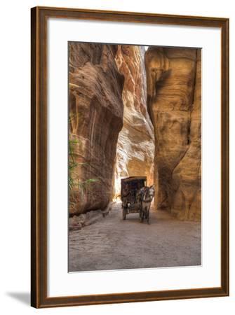 Horsecart in the Siq, Petra, Jordan, Middle East-Richard Maschmeyer-Framed Photographic Print