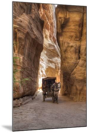 Horsecart in the Siq, Petra, Jordan, Middle East-Richard Maschmeyer-Mounted Photographic Print