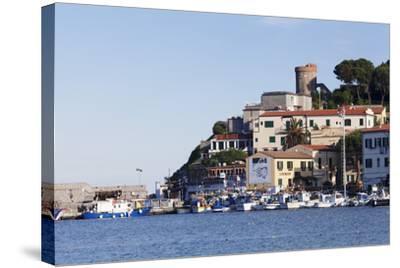 Harbour with Torre Della Marina, Marina Di Campo, Island of Elba, Livorno Province, Tuscany, Italy-Markus Lange-Stretched Canvas Print