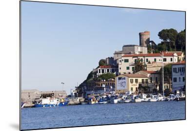 Harbour with Torre Della Marina, Marina Di Campo, Island of Elba, Livorno Province, Tuscany, Italy-Markus Lange-Mounted Photographic Print