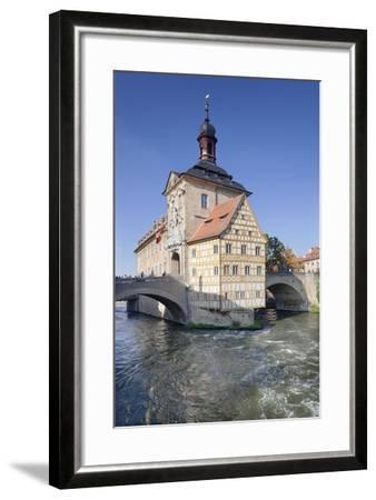 Old Town Hall, UNESCO World Heritage Site, Regnitz River, Bamberg, Franconia, Bavaria, Germany-Markus Lange-Framed Photographic Print