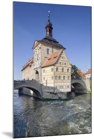 Old Town Hall, UNESCO World Heritage Site, Regnitz River, Bamberg, Franconia, Bavaria, Germany-Markus Lange-Mounted Photographic Print