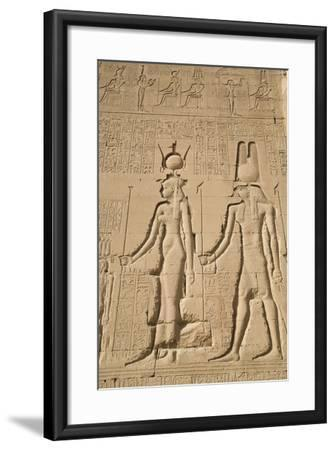 Relief of Cleopatra and Horus, Temple of Hathor, Dendera, Egypt, North Africa, Africa-Richard Maschmeyer-Framed Photographic Print