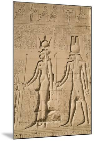 Relief of Cleopatra and Horus, Temple of Hathor, Dendera, Egypt, North Africa, Africa-Richard Maschmeyer-Mounted Photographic Print