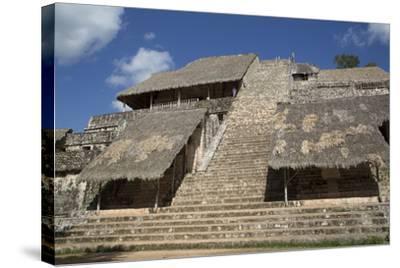 The Acropolis, Ek Balam, Mayan Archaeological Site, Yucatan, Mexico, North America-Richard Maschmeyer-Stretched Canvas Print