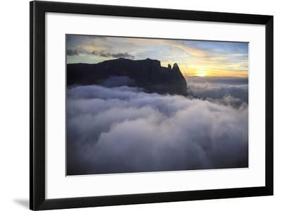 Aerial View of Santner Peak at Sunset-Roberto Moiola-Framed Photographic Print
