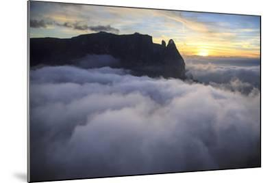 Aerial View of Santner Peak at Sunset-Roberto Moiola-Mounted Photographic Print
