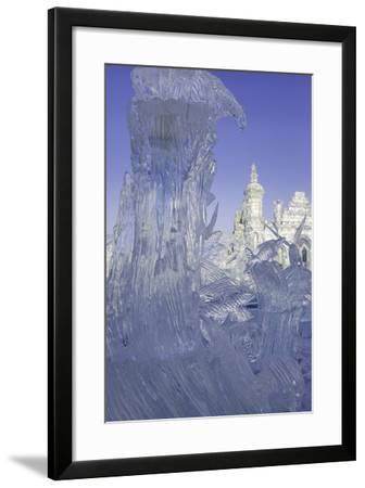 Spectacular Ice Sculptures, Harbin Ice and Snow Festival in Harbin, Heilongjiang Province, China-Gavin Hellier-Framed Photographic Print