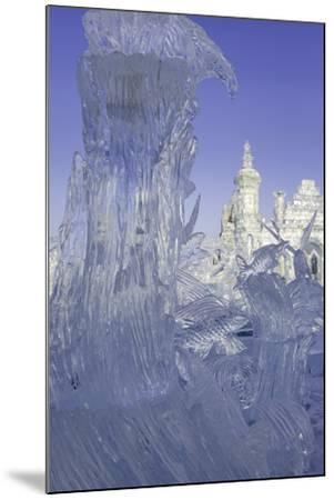 Spectacular Ice Sculptures, Harbin Ice and Snow Festival in Harbin, Heilongjiang Province, China-Gavin Hellier-Mounted Photographic Print