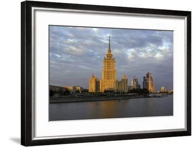 Moskva River and Hotel Ukraine-Gavin Hellier-Framed Photographic Print