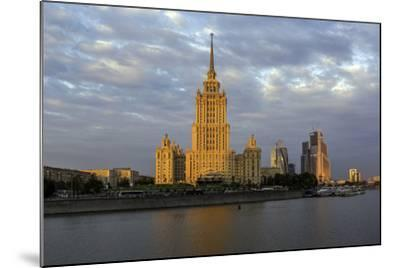 Moskva River and Hotel Ukraine-Gavin Hellier-Mounted Photographic Print