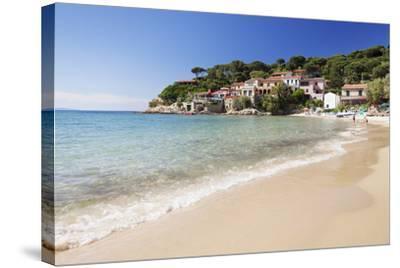 Beach at Scaglieri Bay, Island of Elba, Livorno Province, Tuscany, Italy-Markus Lange-Stretched Canvas Print