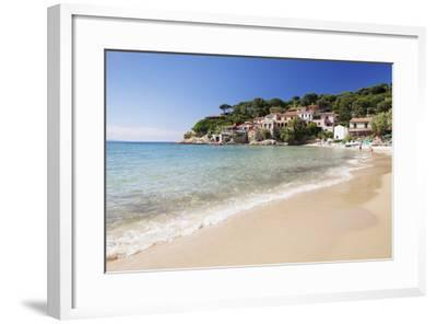 Beach at Scaglieri Bay, Island of Elba, Livorno Province, Tuscany, Italy-Markus Lange-Framed Photographic Print