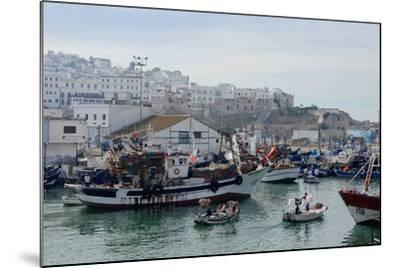 Fishing Boats Leaving Tangier Fishing Harbour, Tangier, Morocco, North Africa, Africa-Mick Baines & Maren Reichelt-Mounted Photographic Print