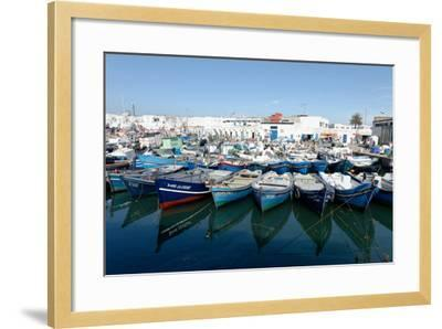 Small Inshore Fishing Boats in Tangier Fishing Harbour, Tangier, Morocco, North Africa, Africa-Mick Baines & Maren Reichelt-Framed Photographic Print