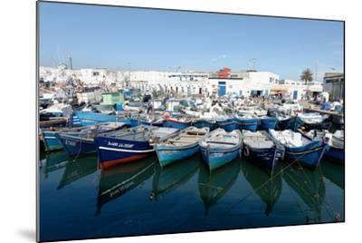 Small Inshore Fishing Boats in Tangier Fishing Harbour, Tangier, Morocco, North Africa, Africa-Mick Baines & Maren Reichelt-Mounted Photographic Print