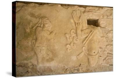 Figures of Stucco Relief, Skeletal Heads Found in the Niches, Castillo De Kukulcan-Richard Maschmeyer-Stretched Canvas Print