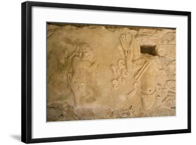 Figures of Stucco Relief, Skeletal Heads Found in the Niches, Castillo De Kukulcan-Richard Maschmeyer-Framed Photographic Print