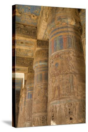 Columns in Second Court, Medinet Habu (Mortuary Temple of Ramses Iii), West Bank-Richard Maschmeyer-Stretched Canvas Print