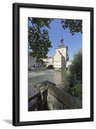 Old Town Hall, UNESCO World Heritage Site, Regnitz River, Bamberg, Franconia, Bavaria, Germany-Markus Lange-Framed Photographic Print
