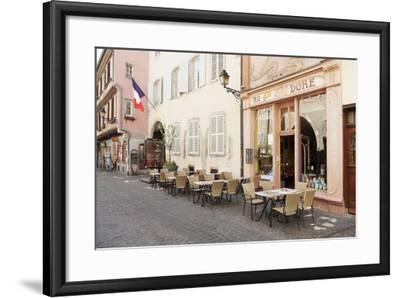 Cafe Au Croissant Dore, Rue Marchands, Colmar, Alsace, France, Europe-Markus Lange-Framed Photographic Print
