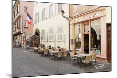 Cafe Au Croissant Dore, Rue Marchands, Colmar, Alsace, France, Europe-Markus Lange-Mounted Photographic Print