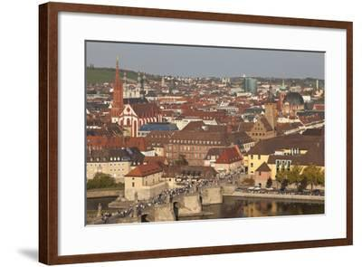 Old Bridge of the Main River, Augustinerkirche Church, Grafeneckart Tower-Markus Lange-Framed Photographic Print