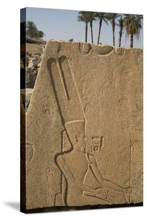Bas-Relief of the God Amun, Karnak Temple, Luxor, Thebes, Egypt, North Africa, Africa-Richard Maschmeyer-Stretched Canvas Print