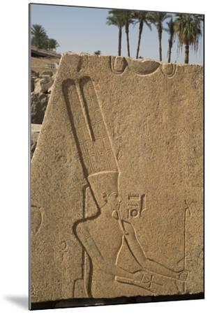 Bas-Relief of the God Amun, Karnak Temple, Luxor, Thebes, Egypt, North Africa, Africa-Richard Maschmeyer-Mounted Photographic Print