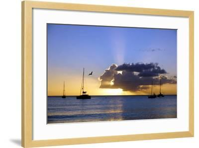 Sunset, St. Kitts and Nevis, Leeward Islands, West Indies, Caribbean, Central America-Robert Harding-Framed Photographic Print