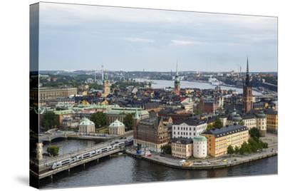 Skyline View over Gamla Stan, Riddarholmen and Riddarfjarden, Stockholm, Sweden-Yadid Levy-Stretched Canvas Print