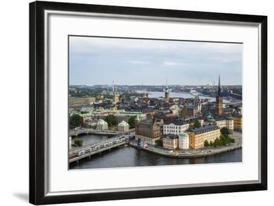Skyline View over Gamla Stan, Riddarholmen and Riddarfjarden, Stockholm, Sweden-Yadid Levy-Framed Photographic Print