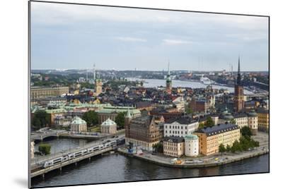 Skyline View over Gamla Stan, Riddarholmen and Riddarfjarden, Stockholm, Sweden-Yadid Levy-Mounted Photographic Print