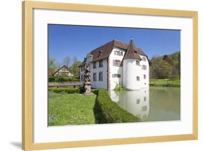 Wasserschloss Inzlingen Water Castle, Markgraefler Land, Black Forest, Baden- Wurttemberg, Germany-Markus Lange-Framed Photographic Print