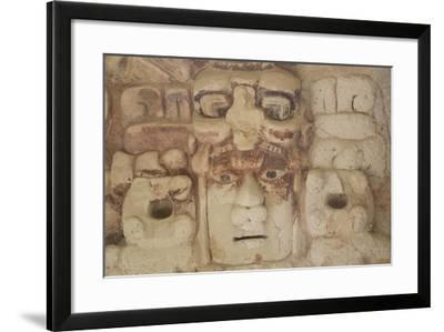 Stone Mask of Mayan Sun God Kinichna-Richard Maschmeyer-Framed Photographic Print