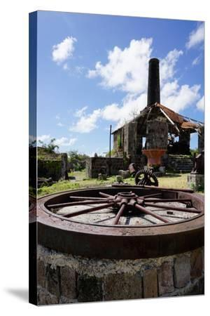 Derelict Old Sugar Mill, Nevis, St. Kitts and Nevis-Robert Harding-Stretched Canvas Print