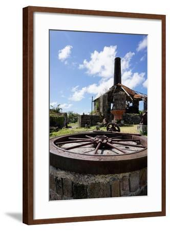 Derelict Old Sugar Mill, Nevis, St. Kitts and Nevis-Robert Harding-Framed Photographic Print