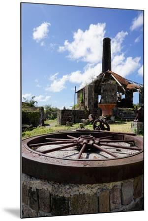 Derelict Old Sugar Mill, Nevis, St. Kitts and Nevis-Robert Harding-Mounted Photographic Print