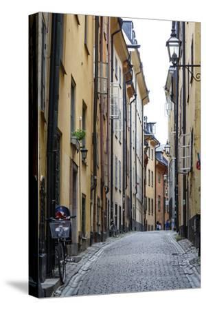 Street Scene in Gamla Stan, Stockholm, Sweden, Scandinavia, Europe-Yadid Levy-Stretched Canvas Print
