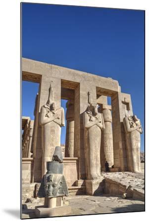 Hypostyle Hall, the Ramesseum (Mortuary Temple of Ramese Ii), Luxor-Richard Maschmeyer-Mounted Photographic Print