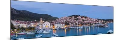 Elevated View over the Picturesque Harbour Town of Hvar, Hvar, Dalmatia, Croatia-Doug Pearson-Mounted Photographic Print
