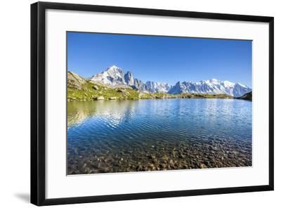 Mont Blanc from Lac Des Cheserys, Haute Savoie. French Alps, France-Roberto Moiola-Framed Photographic Print