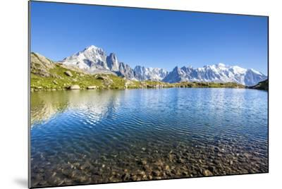 Mont Blanc from Lac Des Cheserys, Haute Savoie. French Alps, France-Roberto Moiola-Mounted Photographic Print
