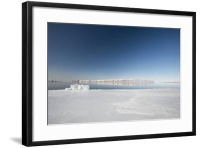 Hunting Blind Made from Ice Blocks at the Floe Edge-Louise Murray-Framed Photographic Print