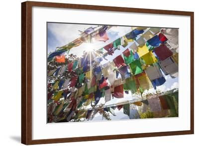 The Tibetan Prayer Flags Made of Colored Cloth-Roberto Moiola-Framed Photographic Print